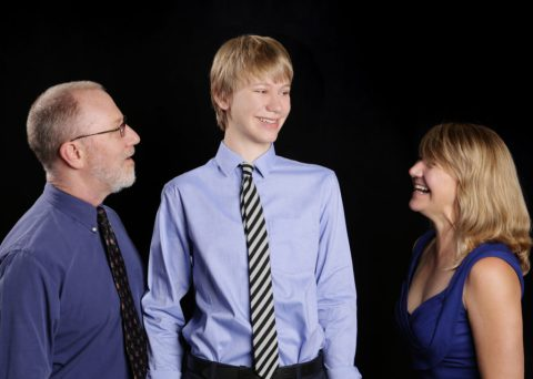 image of Lisa Holtby, her husband David, and her son Ben