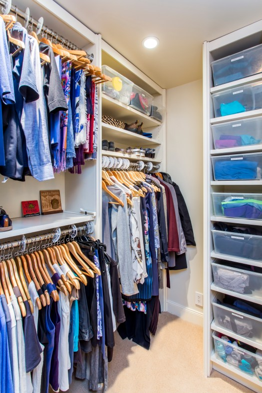 photo of tidy closet