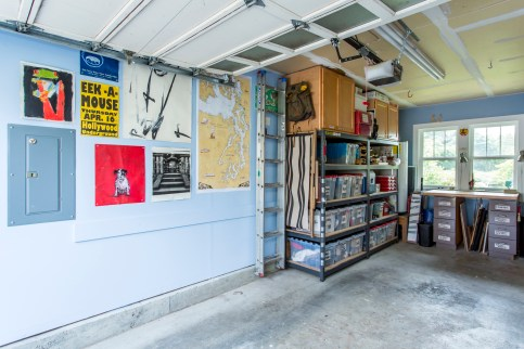 photo of garage after reorganization