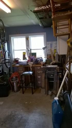 image of garage before reorganization