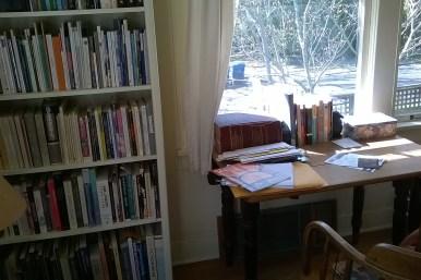 photo of messy desk