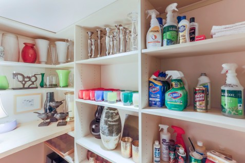 cleaning and decorating closet