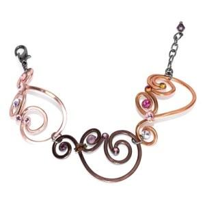 Nautilus Shells Bracelet Mixed Metals
