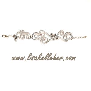 Phoenix Flame Bracelet Silver Smoke