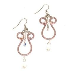 Elf Runes Earrings Rose Gold
