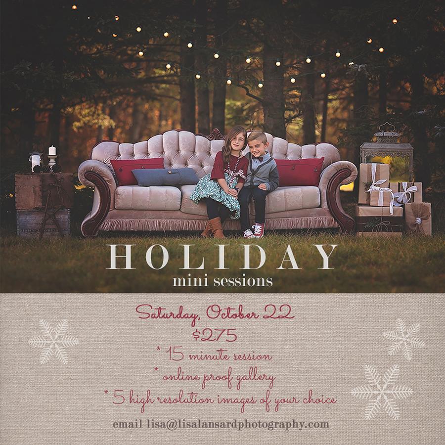 Winnipeg Holiday Mini Sessions Lisa Lansard Photography