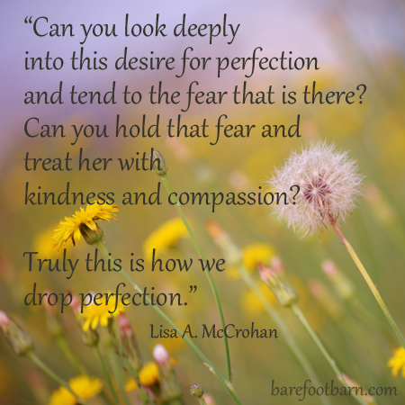 Dropping perfection – a mindful approach