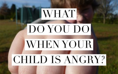 What do you do when your child is angry?  Here's the first thing to do.