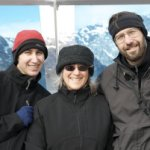 Lisa with son and husband on Alaska vacation.