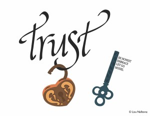 Trust unlocked with complete key - be honest, embrace, let go, model