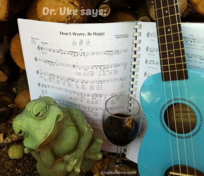 Ukulele and Frog: Don't Worry Be Happy photo by LIsa Nalbone