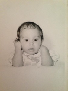 Baby Lisa Nalbone in love with the library LisaNalbone.com
