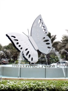 photo of butterfly sculpture