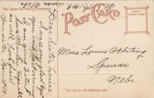 1909 Easter postcard, back