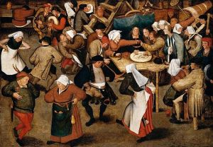 The Wedding Dance in a Barn, circa 1616, Pieter Brueghel the Younger