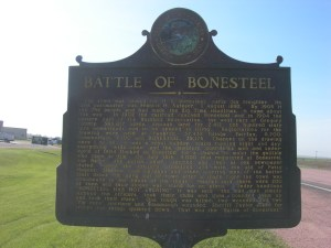 Battle of Bonesteel Historic Marker (photo credit Jimmy Emerson)