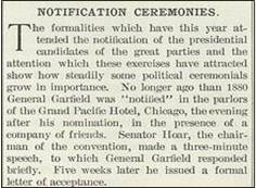 Notification Ceremonies