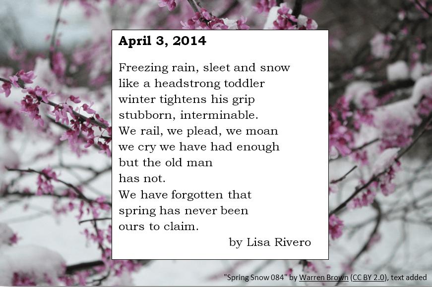 April 3, 2014 poem