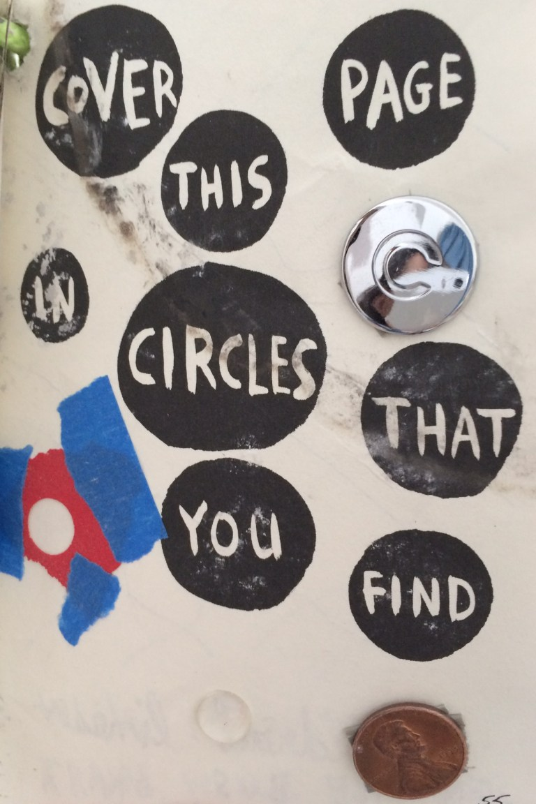 Cover this page in circles that you find.