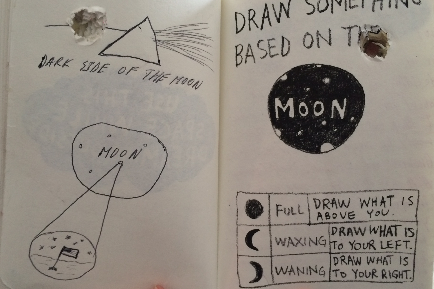 Draw something based on the moon.