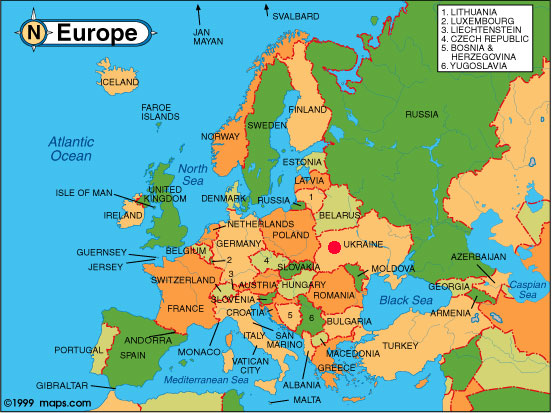 Europe Map Countries Western Quiz