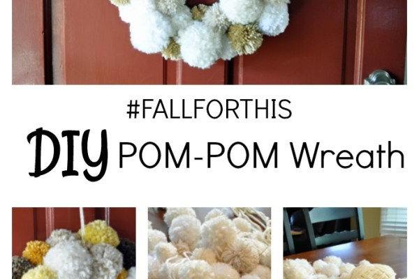 Pom-Pom Fall Wreath