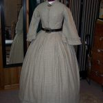 1860s checked linen dress