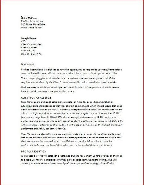 Proposal Cover Letter Format Fungram Rfp Response Sle Business Madrichimfo