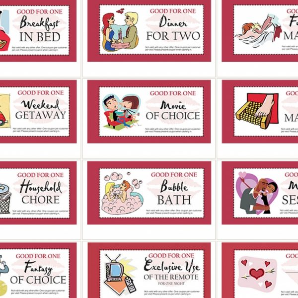 Valentines Day Coupons For Him Ideas Coupons For
