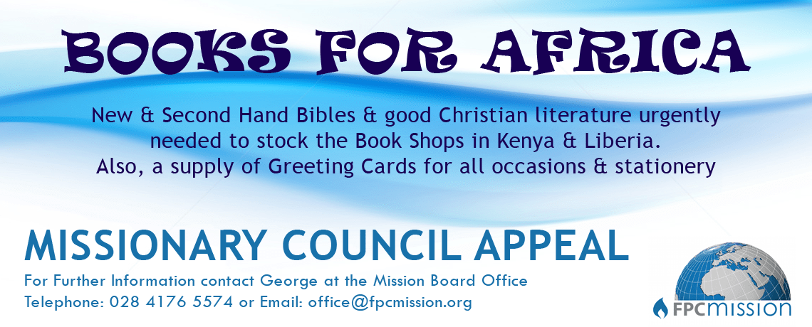 Missionary Council Appeal – Books For Africa