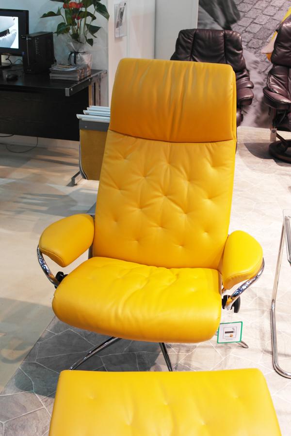 ekornes-orange-chair