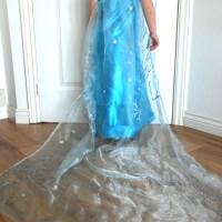Look we made a DIY Elsa dress