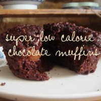 Super low calorie, super chocolatey chocolate muffins