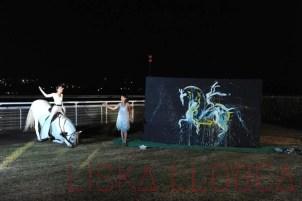 Nuit des amazones 2016, Clémence Lesconnec et Vencedor, hippodrome de Deauville.