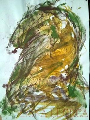 Diptyque, papier marouflé sur carton A4