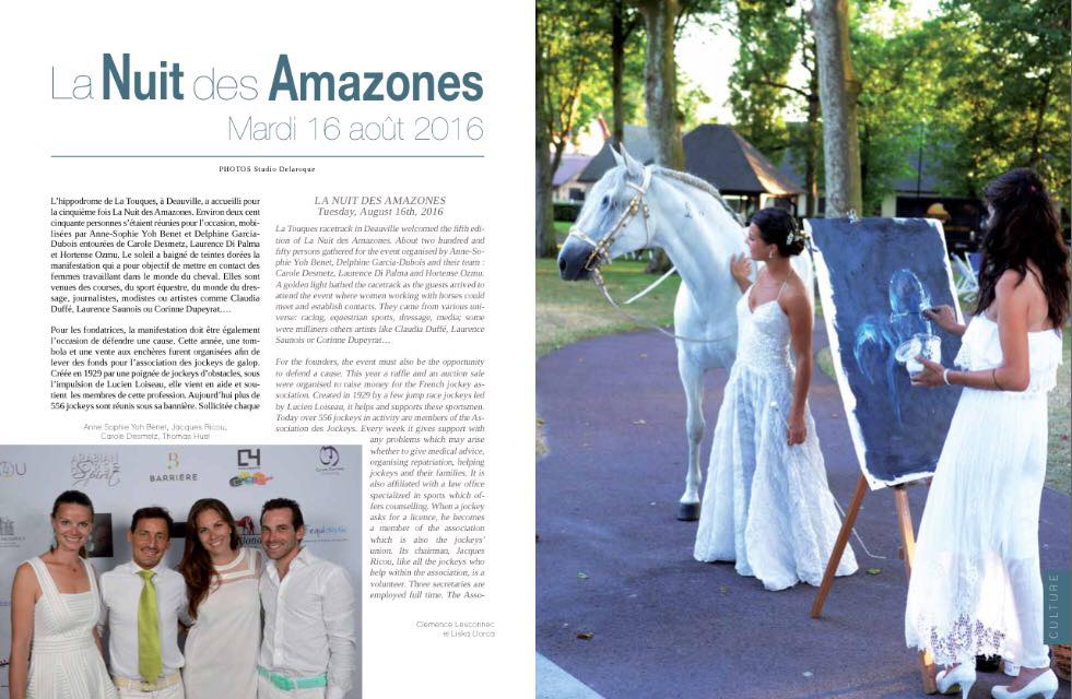 Article de Arabian Horse Spirit n°2 de l'été 2016 : «La nuit des Amazones»