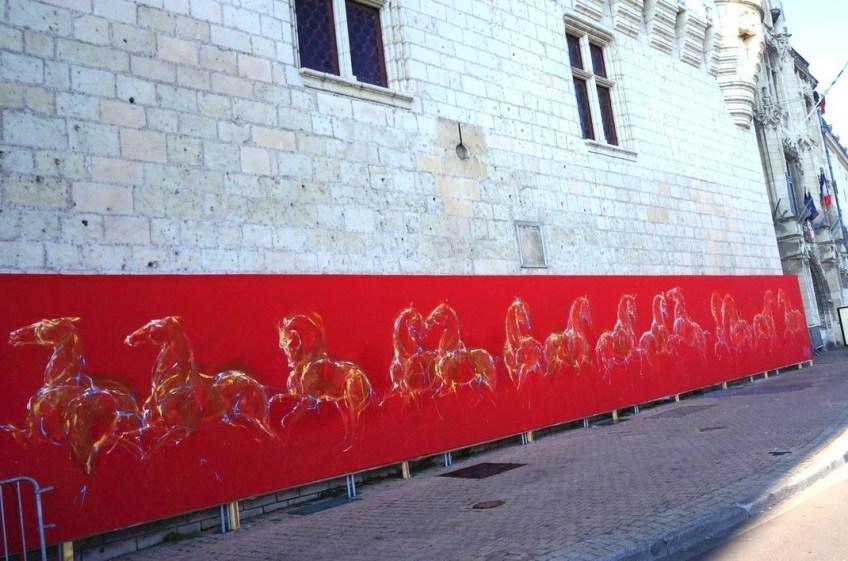 Réalisation d'un fresque de 50 m² à l'hôtel de ville Saumur