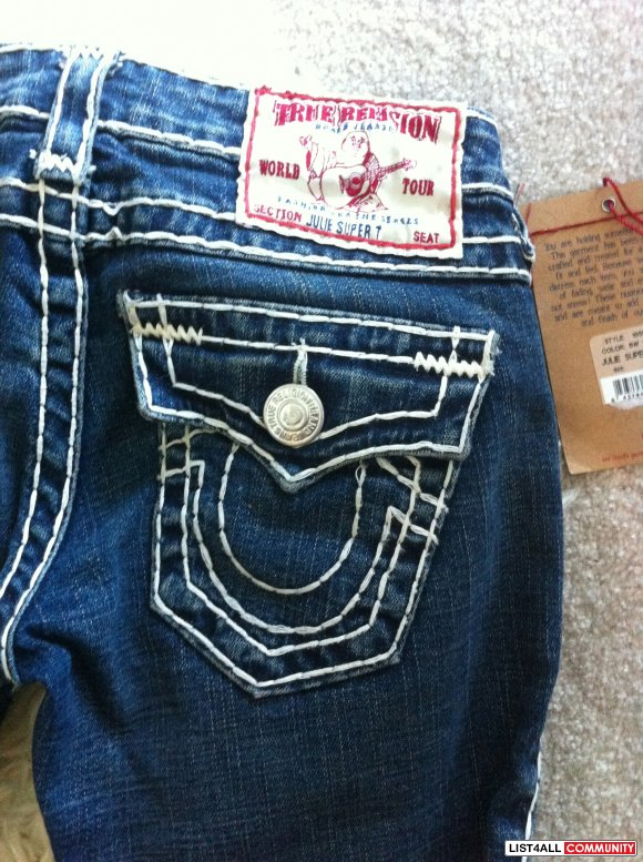 TRUE RELIGION SKINNY JEANS 100% AUTHENTIC WOMEN'S WITH TAG ...