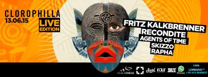 13-06 LIVE Night con FRITZ KALKBRENNER Recondite Agents Of Time Skizzo Rapha al Clorophilla Club