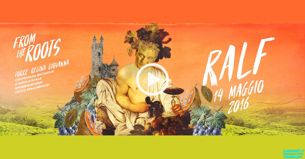 DJ Ralf: From The Roots @ Torre Regina Giovanna