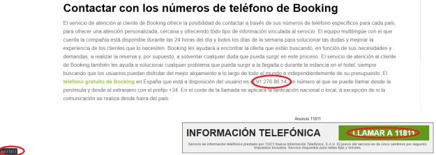 números de información telefónica