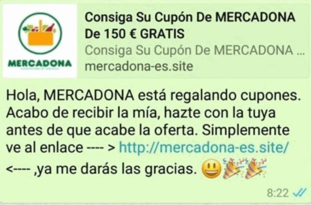 estafa whatsapp mercadona