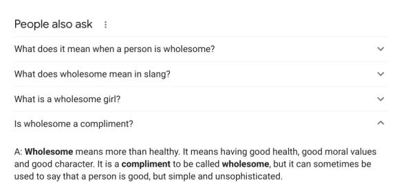 pesto is wholesome