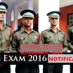 CDS 2016 UPSc Recruitment Notification |457 Vacancies |Across India|Apply Online