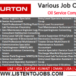 Latest Job Vacancies in Halliburton @UAE,Saudi Arabia,Oman,USA,UK
