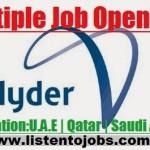 Huge Job Vacancies in Hyder Consulting @UAE-Abu Dhabi-Saudi Arabia-Qatar