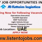 Latest Job Vacancies in Al-Futtaim Logistics | Any Graduate/ Any Degree / Diploma / ITI |Btech | MBA | +2 | Post Graduates | UAE