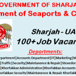 Latest Government Job Vacancies in Sharjah Seaports Authority and Customs | Any Graduate/ Any Degree / Diploma / ITI |Btech | MBA | +2 | Post Graduates | UAE