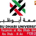 Huge Latest Job Vacancies in Abu Dhabi University@Abu Dhabi,UAE