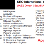 Huge Latest Job Vacancies in KEO International @Dubai,Abu Dhabi,Saudi Arabia,Qatar,UAE